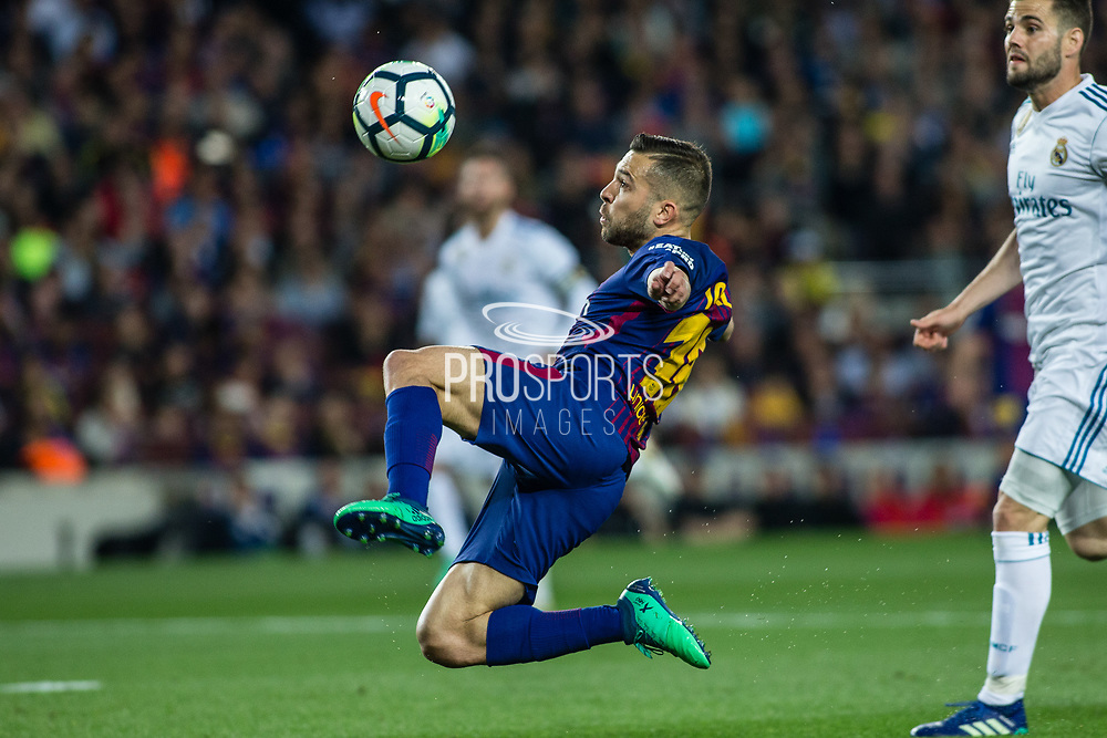 18 Jordi Alba from Spain of FC Barcelona during the Spanish championship La Liga football match between FC Barcelona and Real Madrid on May 6, 2018 at Camp Nou stadium in Barcelona, Spain - Photo Xavier Bonilla / Spain ProSportsImages / DPPI / ProSportsImages / DPPI