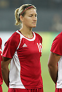 12 August 2008: Martina Franko (CAN).  The women's Olympic team of Sweden defeated the women's Olympic soccer team of Canada 2-1 at Beijing Workers' Stadium in Beijing, China in a Group E round-robin match in the Women's Olympic Football competition.