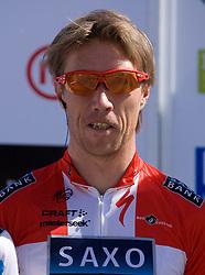 Nicki Sorensen (DEN) of Team Saxo Bank at 1st stage of Tour de Slovenie 2009 from Koper (SLO) to Villach (AUT),  229 km, on June 18 2009, in Koper, Slovenia. (Photo by Vid Ponikvar / Sportida)