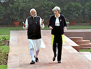 British PM Theresa May Meets Indian PM Narendra Modi