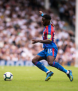 Jeffrey Schlupp (15) of Crystal Palace during the Premier League match between Fulham and Crystal Palace at Craven Cottage, London, England on 11 August 2018.