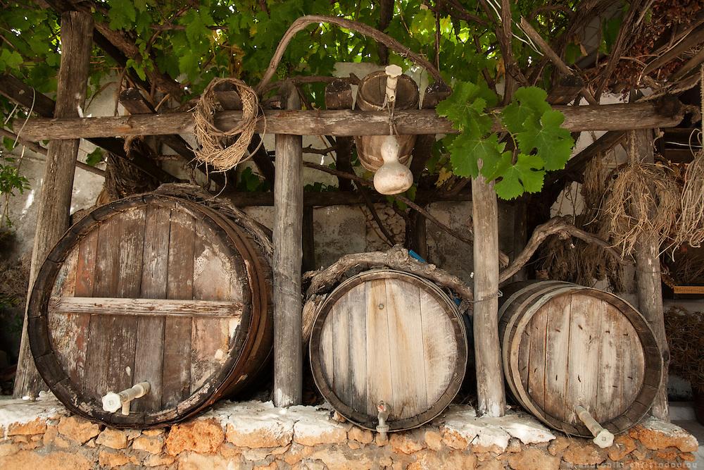 Old wine barels in Creta