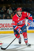 KELOWNA, CANADA - MARCH 5: Cole Wedman #24 of the Spokane Chiefs skates against the Kelowna Rockets on March 5, 2014 at Prospera Place in Kelowna, British Columbia, Canada.   (Photo by Marissa Baecker/Getty Images)  *** Local Caption *** Cole Wedman;