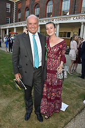 Nicholas Coleridge and his daughter Sophie Coleridge at the Concours d'éléphant in aid of Elephant Family held at the Royal Hospital Chelsea, London, England. 28 June 2018.