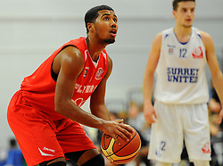Bristol Flyers' Dwayne Lautier-Ogunleye  - Photo mandatory by-line: Joe Meredith/JMP - Mobile: 07966 386802 - 21/11/2014 - Sport - Basketball - Bristol - SGS Wise Campus - Bristol Flyers v Surrey United - British Basketball League