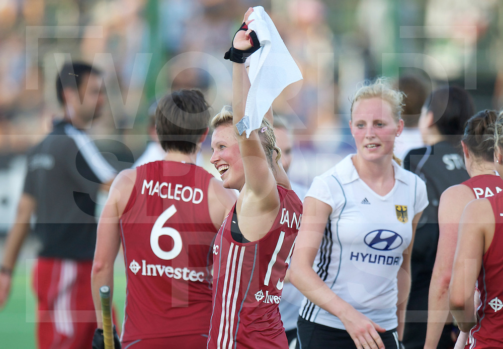 ROSARIO - Champions Trophy women hockey.Great Britain v Germany.Great Britain wins 2-0 and go into the final.foto: Alex Danson celebrating..FFU Press Agency  COPYRIGHT FRANK UIJLENBROEK..