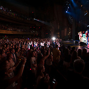 May 26, 2012 - New York, NY : Pop sensation 'One Direction' performs to a sold-out crowd at the Beacon theater in Manhattan on  Saturday afternoon. The group is on the road for their first-ever headlining North American tour in support of their debut album UP ALL NIGHT. CREDIT: Karsten Moran for The New York Times
