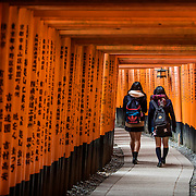 Two girls in Fushimi-Inara temple, Kyoto