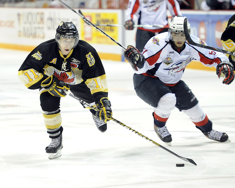 Matt Calvert of the Brandon Wheat Kings in the opening game of the 2010 MasterCard Memorial Cup in Brandon, MB. Photo by Aaron Bell/CHL Images