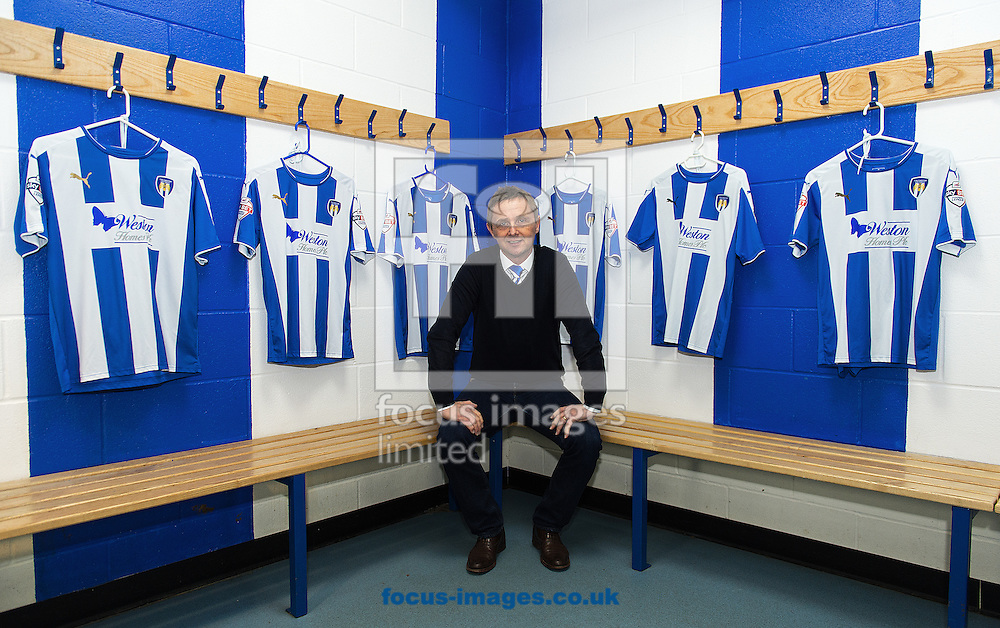 New Colchester United manager Kevin Keen pictured during a press conference at the Weston Homes Community Stadium, Colchester<br /> Picture by Richard Blaxall/Focus Images Ltd +44 7853 364624<br /> 21/12/2015