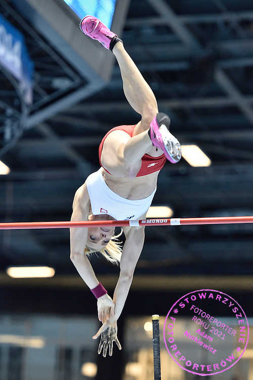 Anna Rogowska of Poland competes in women's pole vault final during the IAAF Athletics World Indoor Championships 2014 at Ergo Arena Hall in Sopot, Poland.<br /> <br /> Poland, Sopot, March 9, 2014.<br /> <br /> Picture also available in RAW (NEF) or TIFF format on special request.<br /> <br /> For editorial use only. Any commercial or promotional use requires permission.<br /> <br /> Mandatory credit:<br /> Photo by &copy; Adam Nurkiewicz / Mediasport