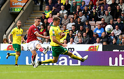 Joe Bryan of Bristol City shoots at goal - Mandatory by-line: Robbie Stephenson/JMP - 23/09/2017 - FOOTBALL - Carrow Road - Norwich, England - Norwich City v Bristol City - Sky Bet Championship