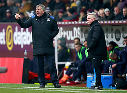 Everton manager Sam Allardyce gestures on the touchline during the Premier League match at Turf Moor, Burnley.