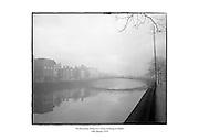 The Ha'penny Bridge on a misty morning in Dublin.<br /> <br /> 10th January 1970<br /> <br /> 10/01/1970