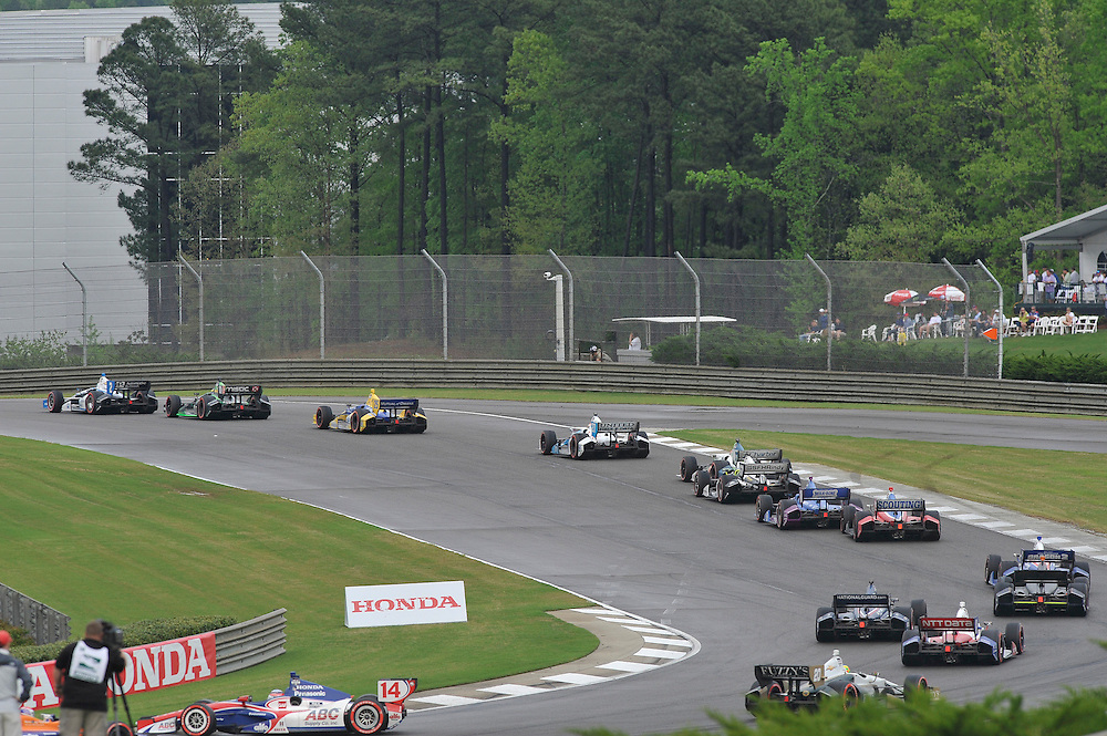 25-27 April, 2014, Birmingham, Alabama USA<br /> Takuma Sato spin<br /> &copy;2014 Scott R LePage <br /> LAT Photo USA