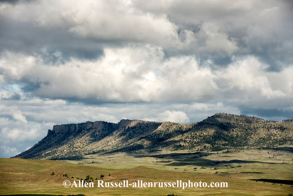 Sheep Mountain, east of Livingston, Montana, butte
