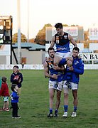 WAFL Elimination Final - Peel Thunder v East Perth Royals at Bendigo Bank Stadium, Mandurah. Photo by Daniel Wilkins. PICTURED- Retiring East Perth champions Paul Johnson is carried off the field after the loss