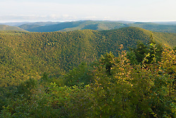 The Berkshire Hills above the Deerfield River Valley in Rowe, Massachuetts.  Late summer.