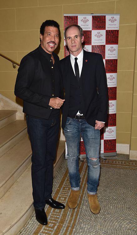 London,UK, 26th Feb 2015 : Lionel Richie and disnger David  Thomas, attends the Vanity Project for the Prince's Trust at Hotel Cafe Royal in London. Photo by See Li