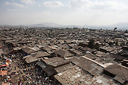 Panoramic view of Merkato. This market is considered among one of the largest in the Horn of Africa. In this area, an increasing number of young girls fall into commercial sex work.<br /> <br /> Addis Ababa, Ethiopia, 08-03-2013.<br /> <br /> To protect the identities of the recorded subjects names are omitted
