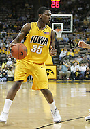 04 JANUARY 2007: Iowa guard Mike Henderson (35) is guarded by Michigan State guard Drew Neitzel (11) in Iowa's 62-60 win over Michigan State at Carver-Hawkeye Arena in Iowa City, Iowa on January 4, 2007.