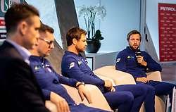 Tom Kocevar Desman during press conference of Slovenian Tennis Men Team before Davis Cup against Pakistan, on February 27, 2020 in Kristalna palaca, Ljubljana, Slovenia. Photo by Vid Ponikvar / Sportida