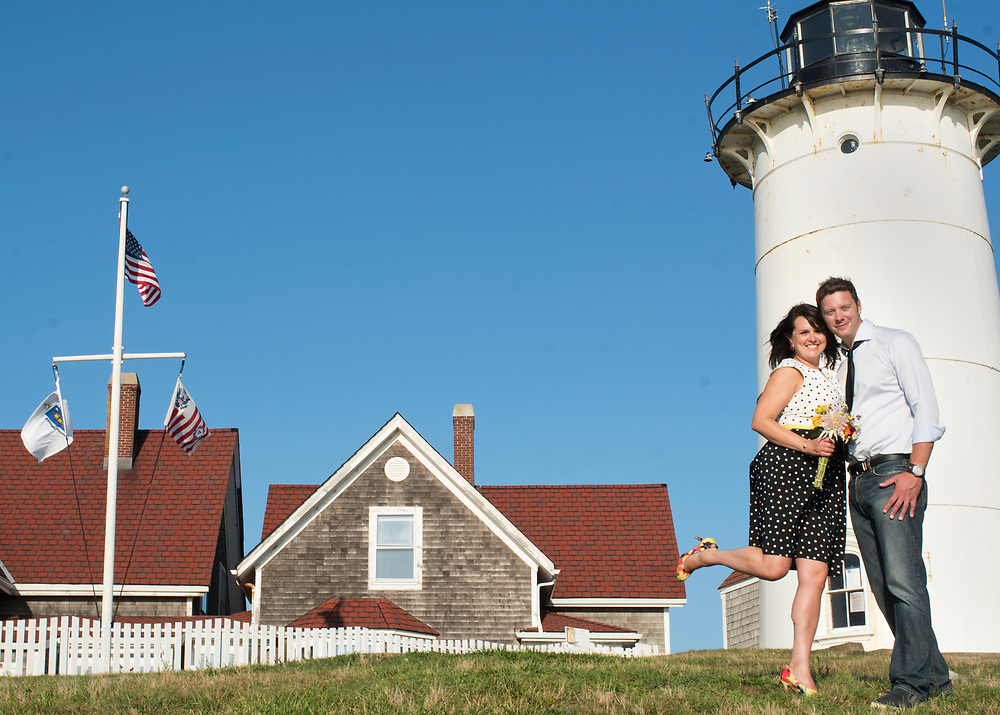Doug and Katie had their engagement photo session at the Nobska Light in Woods Hole.