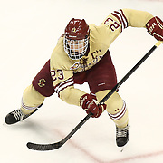Patrick Brown #23 of the Boston College Eagles on the ice during The Beanpot Championship Game at TD Garden on February 10, 2014 in Boston, Massachusetts. (Photo by Elan Kawesch)