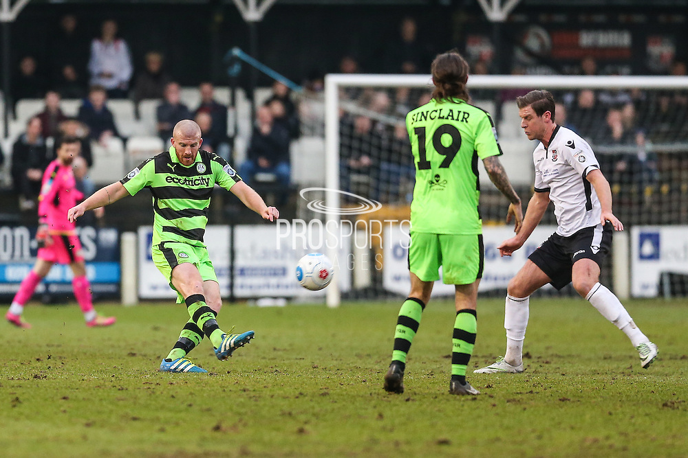 Forest Green Rovers Charlie Clough(5) plays a pass during the Vanarama National League match between Bromley FC and Forest Green Rovers at Hayes Lane, Bromley, United Kingdom on 7 January 2017. Photo by Shane Healey.