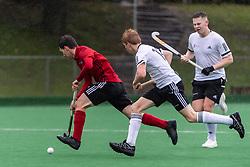 Southgate v Fareham - Men's Hockey League Division 1 South  at Southgate Hockey Centre, Trent Park, London, England on 26 October 2019.<br /> Photo by Simon Parker/SP Action Images