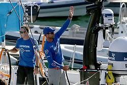 October 28, 2017 - Lisbon, Portugal - Vestas 11th Hour racing team's Charlie Enright wins Leg 1 from Alicante to Lisbon during the Volvo Ocean Race 2017-2018, in Lisbon, Portugal on October 28, 2017. (Credit Image: © Pedro Fiuza/NurPhoto via ZUMA Press)
