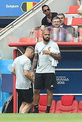 June 23, 2018 - Moscou, Rússia - MOSCOU, MO - 23.06.2018: BÉLGICA Y TÚNEZ - Thierry Henry during the match between Belgium and Tunisia valid for the 2018 World Cup held at the Otkrytie Arena (Spartak) in Moscow, Russia. (Credit Image: © Ricardo Moreira/Fotoarena via ZUMA Press)
