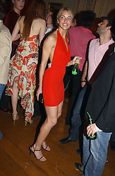 LADY ISABELLA HERVEY at a party to celebrate Pamela Anderson's new role as spokesperson and newest face of the MAC Aids Fund's Viva Glam V Campaign held at Home House, Portman Square, London on 21st April 2005.<br />