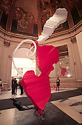 VENICE, ITALY..June 1997..47th Biennale of Venice.Italian Pavillion..Sculpture by Claes Oldenburg and Coosje van Bruggen..(Photo by Heimo Aga)