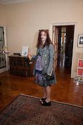 HELENA BONHAM CARTER;, Freud Museum dinner, Maresfield Gardens. 16 June 2011. <br /> <br />  , -DO NOT ARCHIVE-© Copyright Photograph by Dafydd Jones. 248 Clapham Rd. London SW9 0PZ. Tel 0207 820 0771. www.dafjones.com.