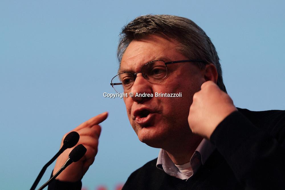 Riccione 25 Gennaio 2014 - 2&deg; Congresso Nazionale Sinistra Ecologia Liberta' - SEL.<br /> Intervento di Maurizio Landini al congresso SEL