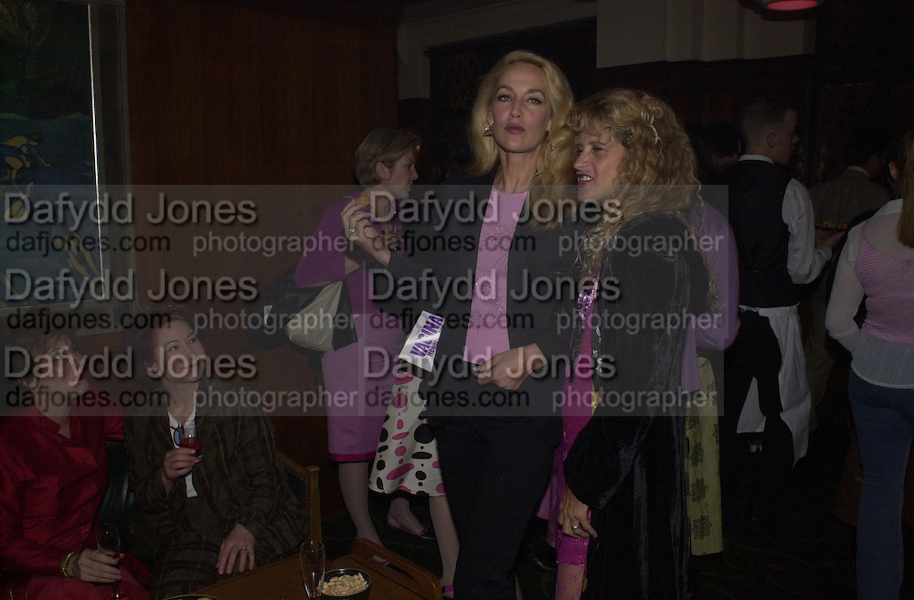 Ruby Wax, Zoe Wannamaker, Jerry Hall and Suzanne Wyman. The Vagina Monologues first night at the New Ambassador Theatre and afterwards at the ivy. © Copyright Photograph by Dafydd Jones 66 Stockwell Park Rd. London SW9 0DA Tel 020 7733 0108 www.dafjones.com