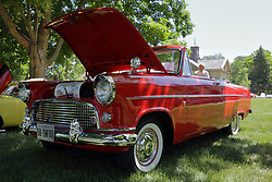 2018 Champagne British Car Festival held on Clover Lawn at David Davis Mansion in Bloomington IL<br /> <br /> 1958 European Ford Consul convertible