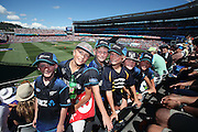 Cricket fans. 2015 ICC Cricket World Cup match between New Zealand Back Caps and Australia at Eden Park, Auckland, New Zealand. Saturday 28 February 2015. Photo: Anthony Au-Yeung / www.photosport.co.nz