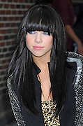 25.OCTOBER.2012. NEW YORK <br /> <br /> SINGER CARLY RAE JEPSON ENTERS THE 'LATE SHOW WITH DAVID LETTERMAN' TAPING AT THE ED SULLIVAN THEATER IN NEW YORK CITY<br /> <br /> BYLINE: EDBIMAGEARCHIVE.CO.UK<br /> <br /> *THIS IMAGE IS STRICTLY FOR UK NEWSPAPERS AND MAGAZINES ONLY*<br /> *FOR WORLD WIDE SALES AND WEB USE PLEASE CONTACT EDBIMAGEARCHIVE - 0208 954 5968*