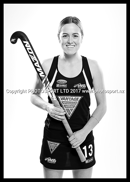 Samantha Charlton, New Zealand Black Sticks women, national hockey team photoshoot. Photosport Studio, Auckland. August 2017, Copyright Image: Andrew Cornaga / www.photosport.nz