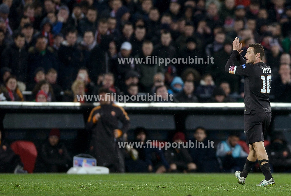 26-02-2015 NED: Europa League Feyenoord - AS Roma, Rotterdam<br /> In the photo Francesco Totti © #10
