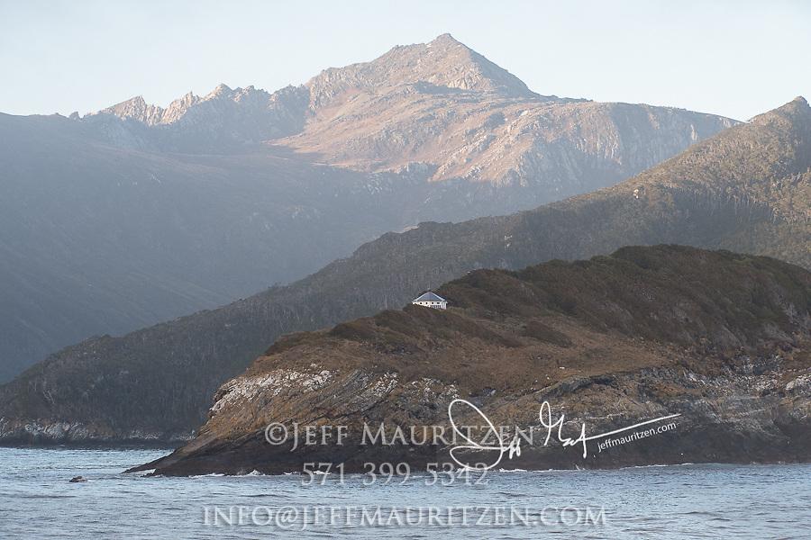 San Juan del Salvamento Lighthouse on Isla de los Estados, Argentina.