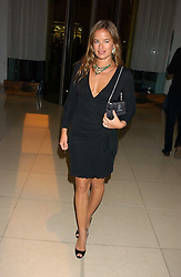 JADE JAGGER at a Burns Night supper in aid of Clic Sargent & Children's Hospital Association Scotland hosted by Ewan McGregor, Sharleen Spieri and Lady Helen Taylor at St.Martin's Lane Hotel, 45 St Martin's Lane, London on 25th January 2006.<br /><br />NON EXCLUSIVE - WORLD RIGHTS