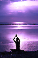 A purple version of the greeting the dawn image.