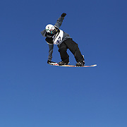 Michael Rotsaert, Canada, in action during the Snowboard Slopestyle Men's competition at Snow Park, New Zealand during the Winter Games. Wanaka, New Zealand, 21st August 2011. Photo Tim Clayton