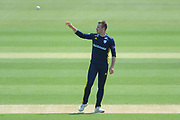 Mason Crane of Hampshire during the Royal London One Day Cup match between Hampshire County Cricket Club and Essex County Cricket Club at the Ageas Bowl, Southampton, United Kingdom on 23 May 2018. Picture by Dave Vokes.