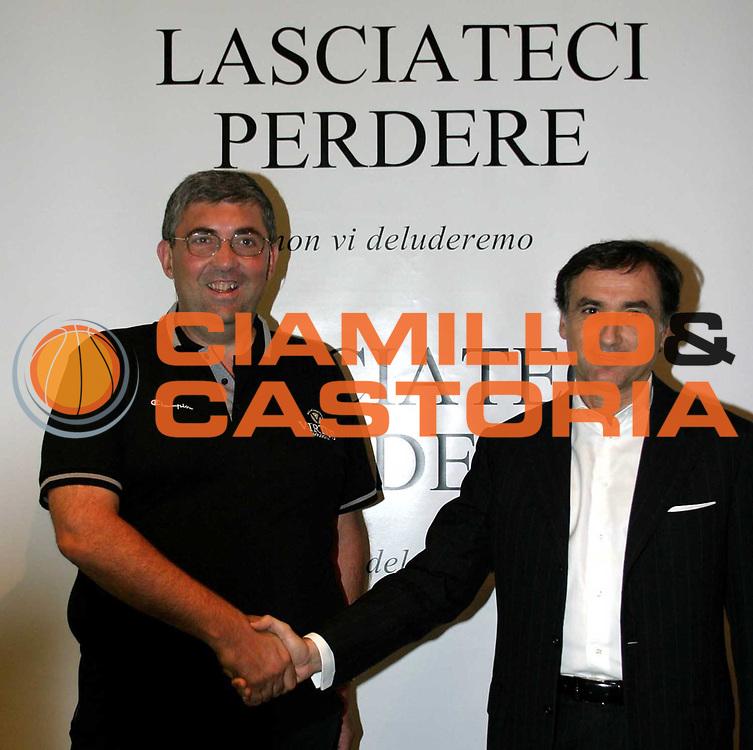DESCRIZIONE : Bologna Lega A1 2007-08 Presentazione Stefano Pillastrini nuovo allenatore Virtus Bologna<br /> GIOCATORE : Stefano Pillastrini Claudio Sabatini<br /> SQUADRA : Virtus Bologna<br /> EVENTO : Campionato Lega A1 2007-2008 <br /> GARA : <br /> DATA : 25/06/2007 <br /> CATEGORIA : Ritratto <br /> SPORT : Pallacanestro <br /> AUTORE : Agenzia Ciamillo-Castoria/L.Villani<br /> Galleria : Lega Basket A1 2007-2008 <br /> Fotonotizia : Bologna Lega A1 2007-08 Presentazione Stefano Pillastrini nuovo allenatore Virtus Bologna<br /> Predefinita :
