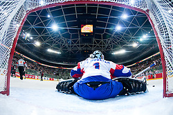 Andrej Hocevar of Slovenia receives a goal and team Japan ties a game to 2:2 during ice-hockey match between Slovenia and Japan at IIHF World Championship DIV. I Group A Slovenia 2012, on April 16, 2012 at SRC Stozice, Ljubljana, Slovenia. (Photo By Matic Klansek Velej / Sportida.com)