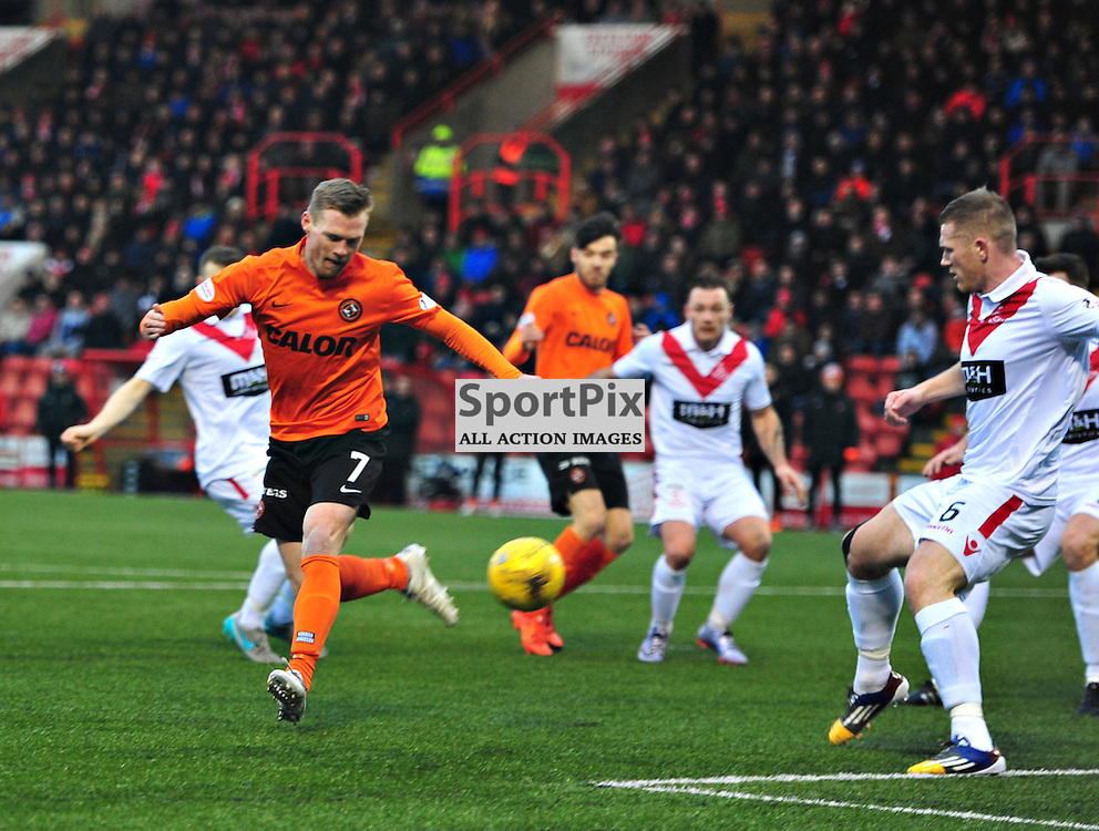 Billy Mckay of United flicks the ball towards the Airdrie goal in the Cup game.....(c) BILLY WHITE | SportPix.org.uk
